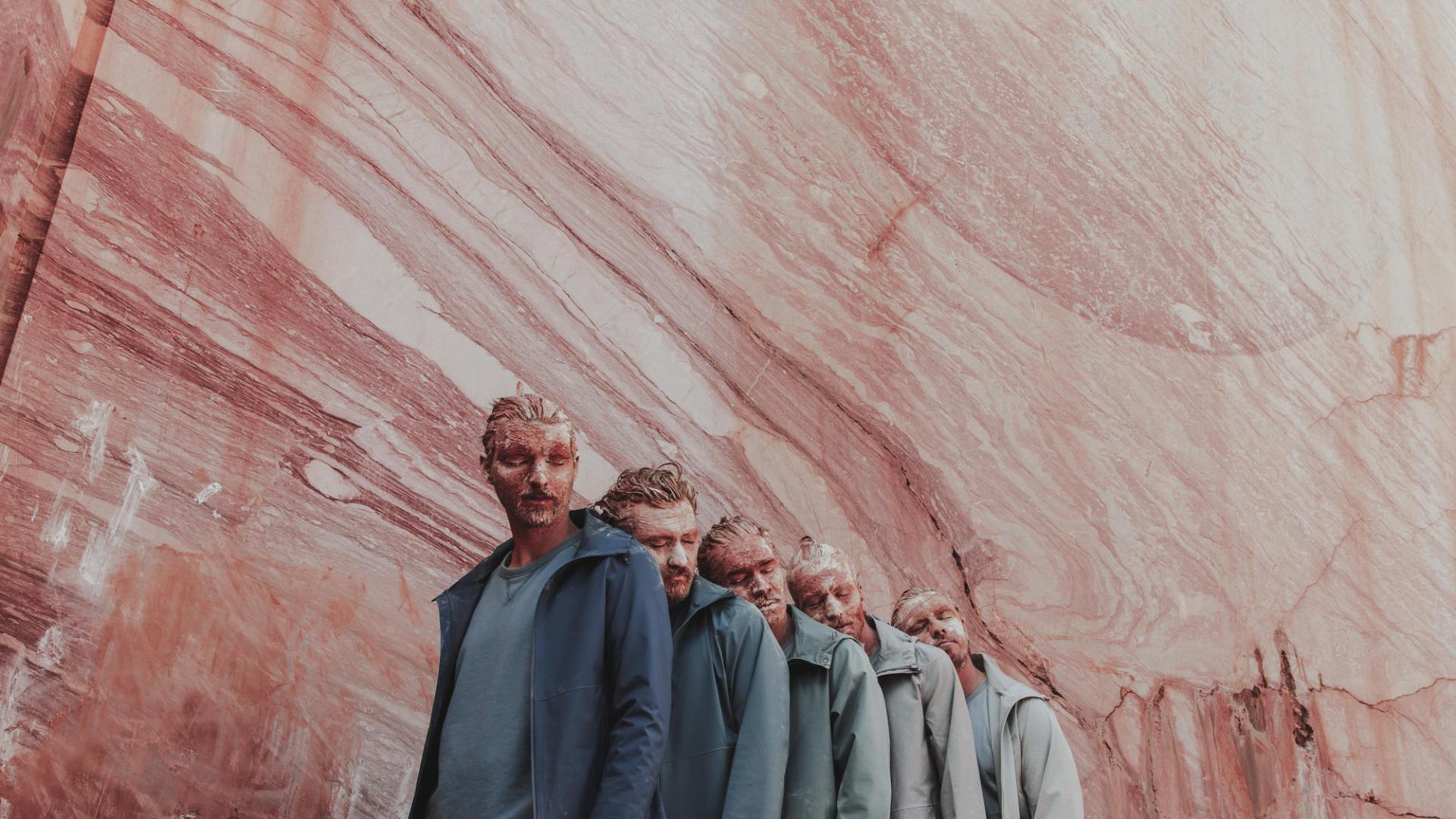 Croissant décroissant hommes carrière marbre rose blanc bleu dégradé
