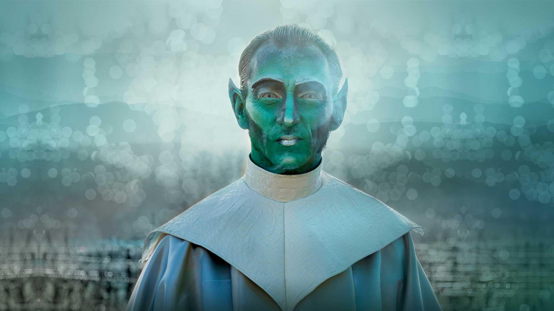 Alien extraterrestre mars vert oreilles pointues