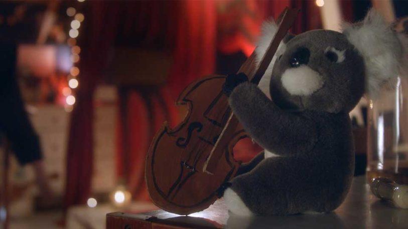 musicien peluche koala
